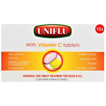 UNIFLU & VITAMIN C TABLETS 12S