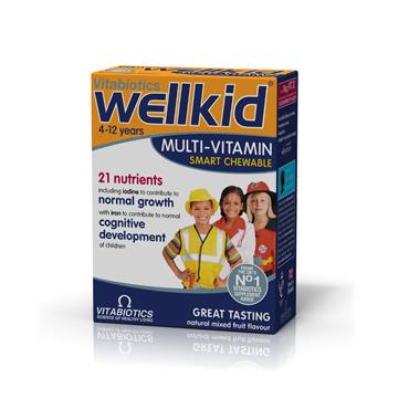 VITABIOTICS VITABIOTICS WELLKID SOFT JELLY PASTILLES 4-12 YEARS STRAWBERRY