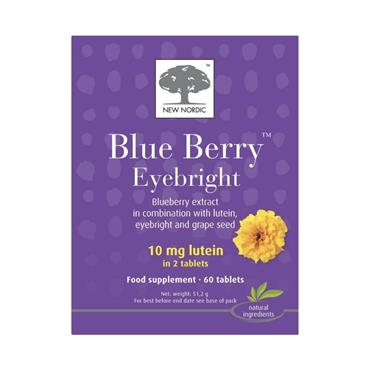 NEW NORDIC NEW NORDIC BLUE BERRY EYEBRIGHT FOOD SUPPLEMENT 60 TABLETS