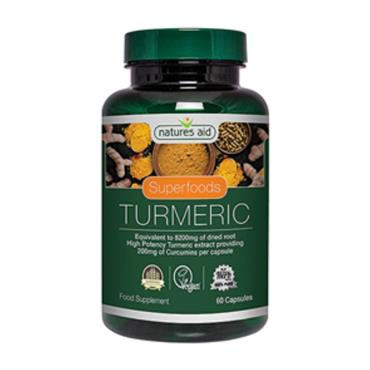 NATURES AID NATURES AID SUPERFOODS TURMERIC FOOD SUPPLEMENT 60 CAPSULES