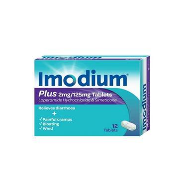 IMODIUM IMODIUM PLUS 2MG/125MG TABLETS 12PACK