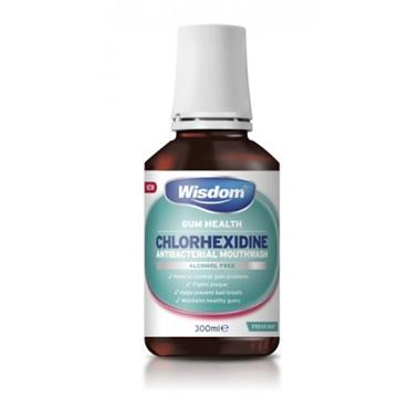 WISDOM WISDOM GUM HEALTH CHLOROHEXIDINE 0.2% MINT ALCOHOL FREE MOUTHWASH 300ML