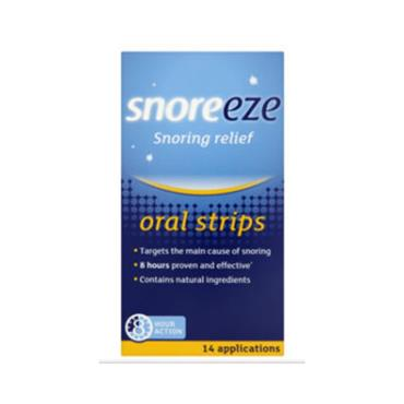 SNOREEZE SNOREEZE SNORING RELIEF ORAL STRIPS 14 PACK