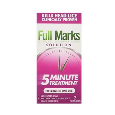 FULL MARKS FULL MARKS 5 MINUTE HEADLICE TREATMENT 100ML