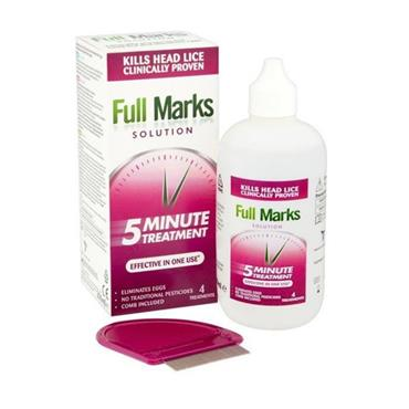 FULL MARKS FULL MARKS 5 MINUTE HEADLICE TREATMENT 200ML