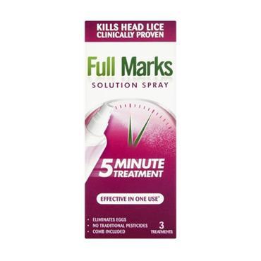 FULL MARKS FULL MARKS 5 MINUTE HEADLICE TREATMENT SPRAY 150ML