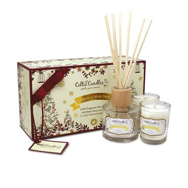 CELTIC CANDLE CELTIC CANDLE CINNAMON & WINTER BERRIES GIFTBOX