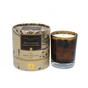 CELTIC CANDLE CELTIC CANDLE ORGANIC RECHARGE CLEMENTINE, NEROLI & AMBER CANDLE