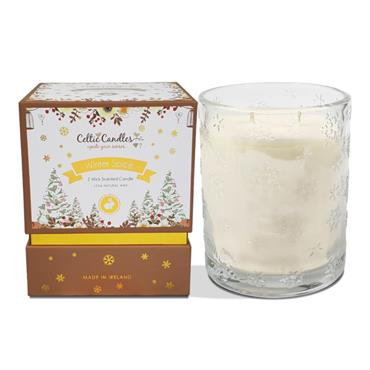 CELTIC CANDLE CELTIC CANDLE DOUBLE WICK FRANKINCENSE & MYRRH SCENTED CANDLE