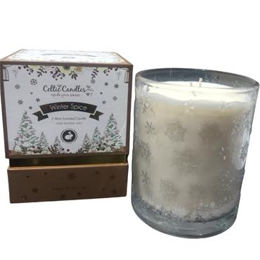 CELTIC CANDLE CELTIC CANDLE WINTER SPICE DOUBLE WICK SCENTED CANDLE
