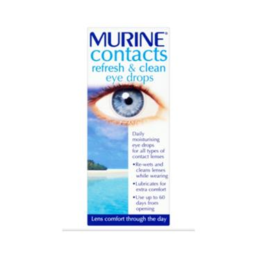 MURINE MURINE CONTACTS REFRESH & CLEAN DROPS 15ML