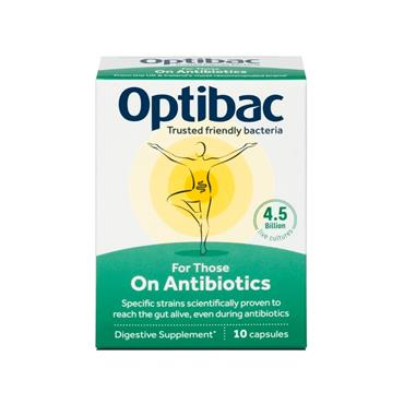 OPTIBAC OPTIBAC FOR THOSE ON ANTIBIOTICS 10 CAPSULES