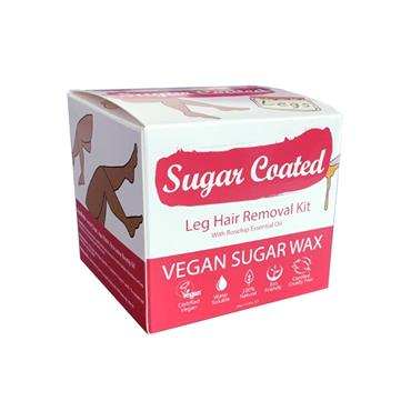 SUGAR COATED SUGAR COATED LEG HAIR REMOVAL KIT WITH ROSEHIP ESSENTIAL OIL