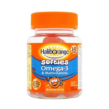 HALIBORANGE HALIORANGE SOFTIES OMEGA-3 & MULTIVITAMINS 60 SOFTIES