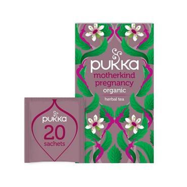 PUKKA PUKKA MOTHERKIND PREGNANCY TEA SACHETS 20 CAFFIENE FREE SACHETS