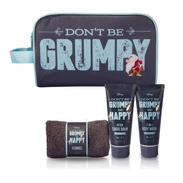 DISNEY DONT BE GRUMPY BE HAPPY WASH BAG SET CEDARWOOD & LIME