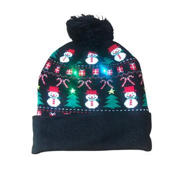 BRANDWELL NOVELTY LED HAT - SNOWMEN
