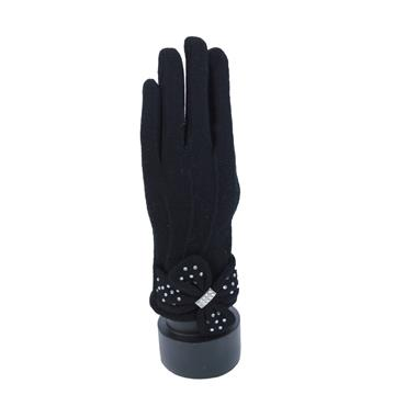 BRANDWELL WOOL GLOVES WITH TOUCH SCREEN- BLACK