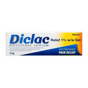 DICLAC DICLAC RELIEF 1% W/V ANTI INFLAMMATORY GEL 30G