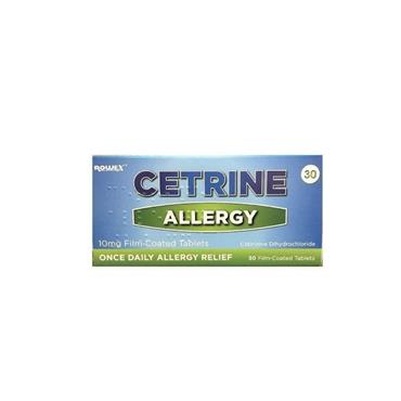 CETRINE ALLERGY 10MG TABLETS 30S