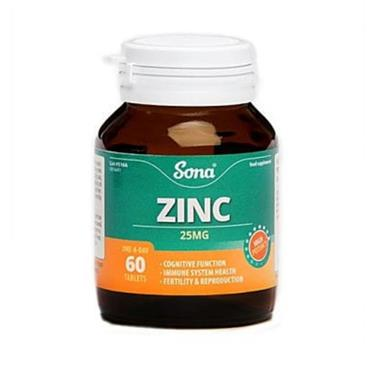 SONA SONA CHELATED ZINC 25MG 60'S