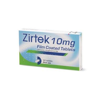 ZIRTEK ZIRTEK ALLERGY 10MG CETRIZINE TABLETS 30 PACK