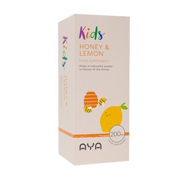 AYA AYA KIDS HONEY & LEMON FOOD SUPPLEMENT 200ML