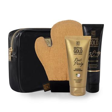 SOSU SoSu Dripping Gold Party Prep Bag