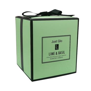 JUST GLO JUST GLO LIME & BASIL SCENTED CANDLE 280G