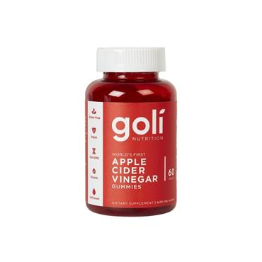 GOLI GOLI NUTRITION APPLE CIDER VINEGAR WITH THE MOTHER  60 PIECES