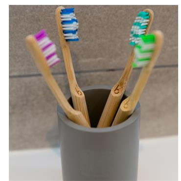 BAMBOOTH BAMBOOTH BAMBOO TOOTHBRUSH ADULT MEDIUM FOREST GREEN