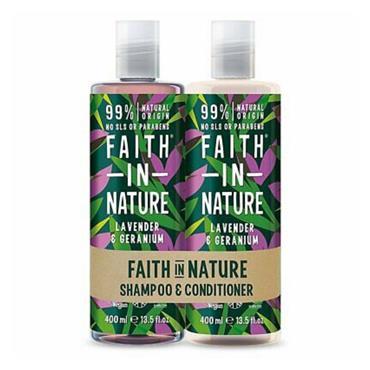 FAITH IN NATURE FAITH IN NATURE LAVENDER & GERANIUM SHAMPOO & CONDITIONER DUO PACK