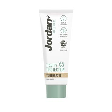 JORDAN JORDAN GREEN CLEAN CAVITY PROTECTION TOOTHPASTE WITH FLUORIDE