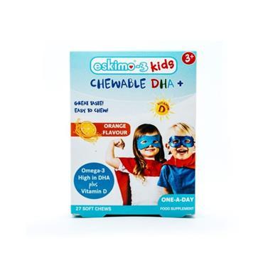 ESKIMO-3 ESKIMO3 KIDS CHEWABLE DHA+ 27 SOFT CHEWS