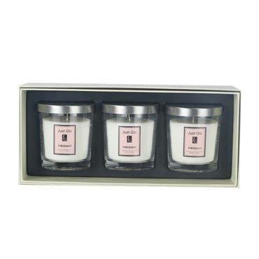 JUST GLO JUST GLO POMEGRANATE 3 PACK CANDLE SET
