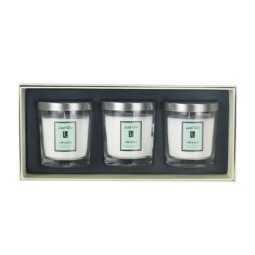 JUST GLO JUST GLO LIME & BASIL 3 PACK CANDLE SET