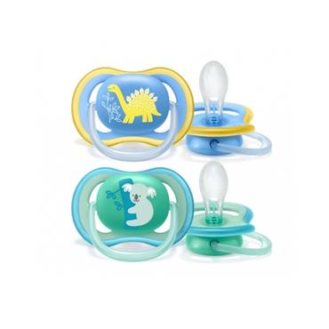 AVENT AVENT ULTRA AIR BOYS TWIN PACK SOOTHERS 18 MTHS+