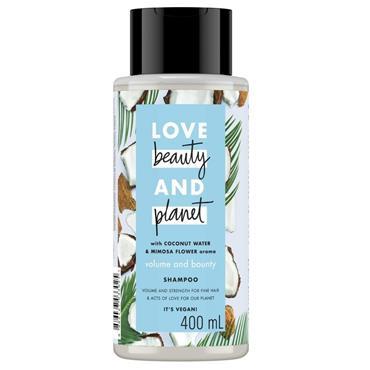 LBP LOVE, BEAUTY & PLANET COCONUT WATER & MIMOSA FLOWER SHAMPOO 400ML