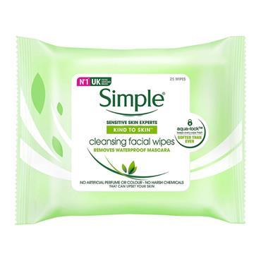 SIMPLE SIMPLE CLEANSING WIPES 20 PACK