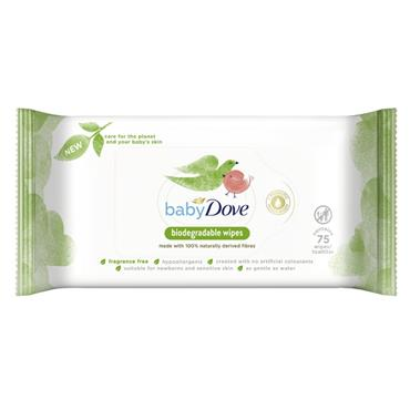 DOVE BABY DOVE NATURAL BIODEGRADABLE WIPES 75 PACK