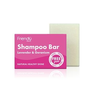 FRIENDLY SOAP FRIENDLY SOAP SHAMPOO BAR- LAVENDER & GERANIUM